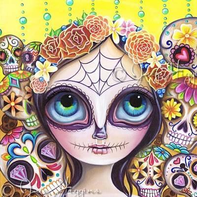 Fantasy Photograph - My Original sugar Skull Princess by Jaz Higgins