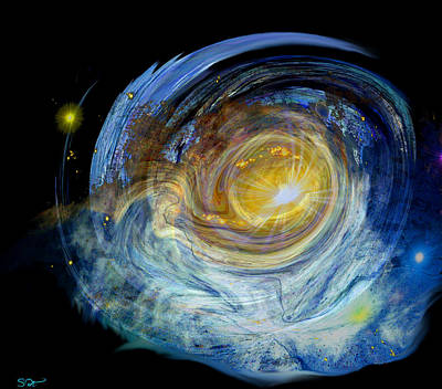 Conceptual Digital Art - My Own Private Galaxy by Abstract Angel Artist Stephen K