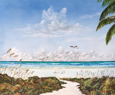 Painting - My Paradise Location by Lloyd Dobson