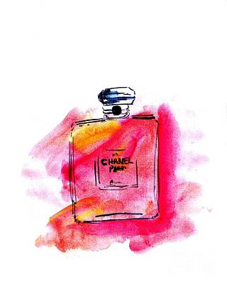 For Salons Painting - My Peach Bottle by Sweeping Girl
