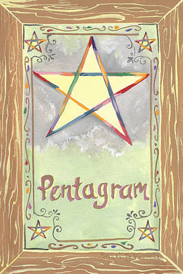 Painting - My Pentagram by Sheri Jo Posselt