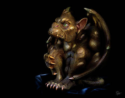 Photograph - My Pet Gragoyle by Endre Balogh