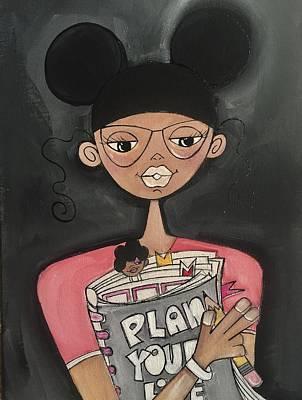 Painting - My Planner by Deborah Carrie