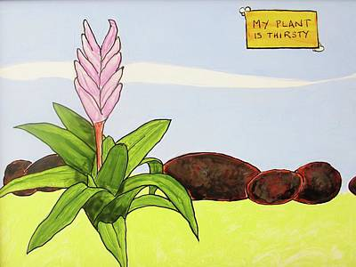 Digital Art - My Plant Is Thirsty by Steve Kobb