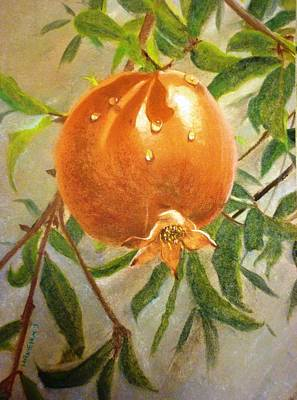 Mohammad Painting - My Pomegranate Tree  by Hanieh Mohammad Bagher