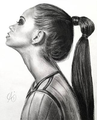 Drawing - My Ponytail by Ai P Nilson