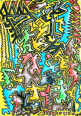 Hypnotic Drawing - My Popart Thing by Felix Waack