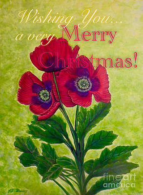 Painting - My Poppy Love At Christmastime by Kimberlee Baxter