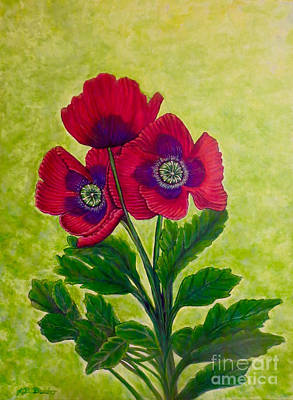 Painting - My Poppy Love by Kimberlee Baxter