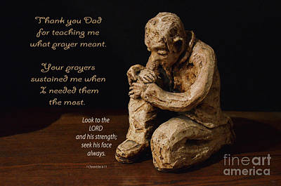 Photograph - My Praying Father by Debby Pueschel