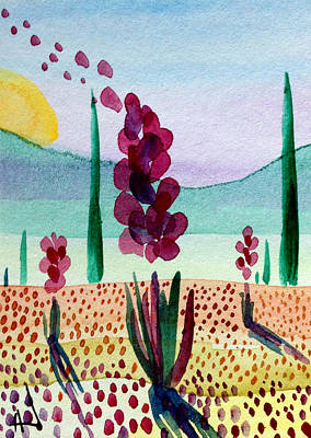 Painting - My Purple Agaves by Patricia Lazaro