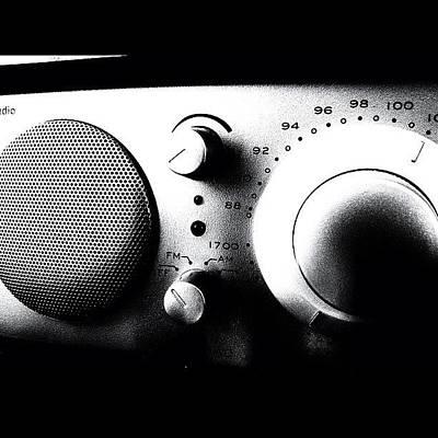 Pop Art Wall Art - Photograph - #my #radio #listening #music #news #pop by Max Guzzo