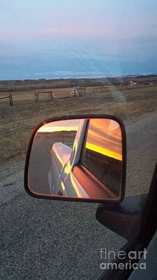 Photograph - My Rear View Mirror by Carole Martinez
