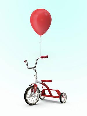Digital Art - My Red Balloon by Edward Fielding