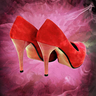 My Red Shoes Art Print by Ericamaxine Price
