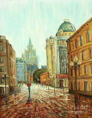 My Red Umbrella Art Print by Kristian Leov