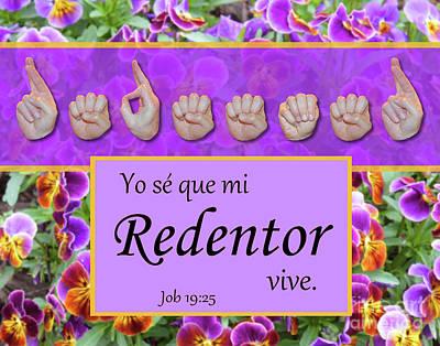 My Redeemer Lives Spanish Art Print