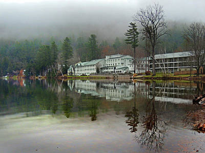 Photograph - My Reflection On Lake Morey Resort by Nancy Griswold