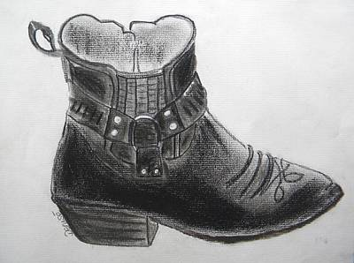My Right Boot Art Print