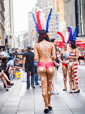 Photograph - My Right Times Square Nyc by Robin Zygelman