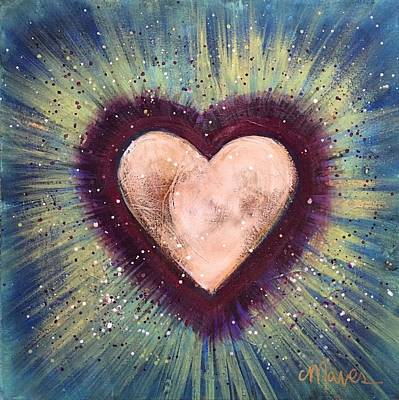 Art Print featuring the painting My Royal Heart by Laurie Maves ART