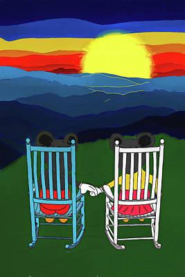 Digital Art - My Happy Place Is With You by John Haldane