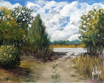 Painting - My Secret Boat Ramp by Jim Phillips