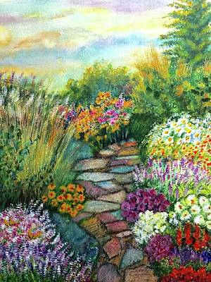 Painting - My Secret Garden by Carol Warner