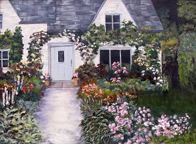 Art Print featuring the painting My Secret Place by Diane Daigle