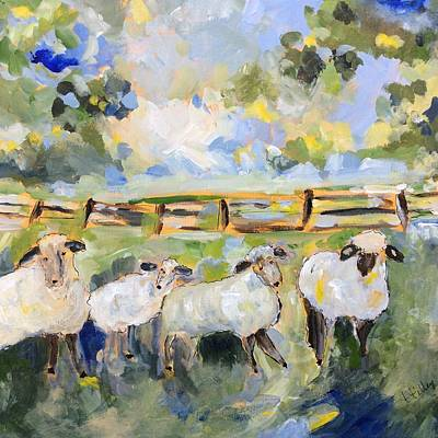 Painting - My Sheep Will Follow Me by Teresa Tilley