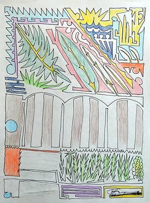 Drawing - My Side Yard by J R Seymour