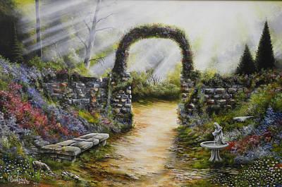 David Paul Painting - My Sideyard by David Paul