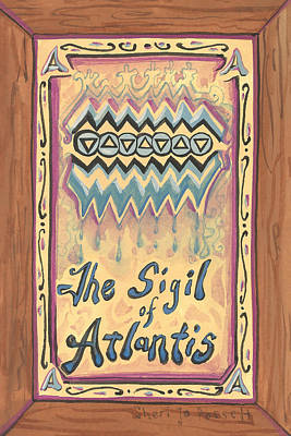 Painting - My Sigil Of Atlantis by Sheri Jo Posselt
