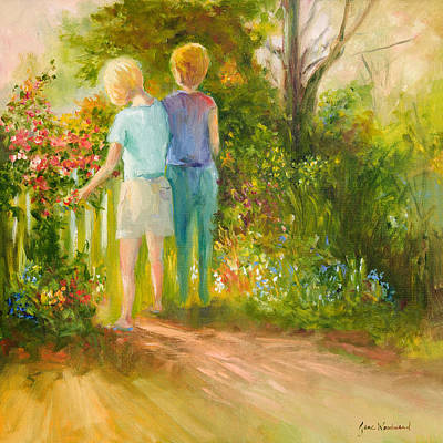 Wall Art - Painting - My Sister's Garden by Jane Woodward