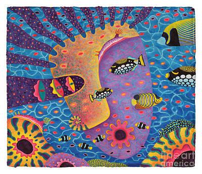 Triggerfish Painting - My Son 2 by Opas Chotiphantawanon