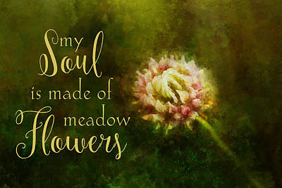 Painting - My Soul Is Made Of Meadow Flowers by Christina VanGinkel
