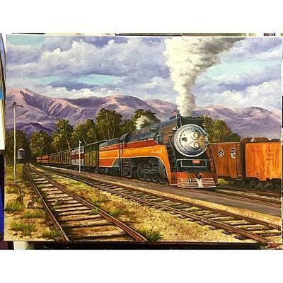 Train Photograph - My Southern Pacific Daylight #train by Darice Machel McGuire