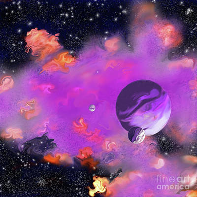 My Space Print by Methune Hively
