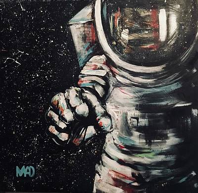 Wall Art - Painting - My-space Revisited by Mel Dawdy