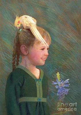 Painting - My Sparkly Trinket by Nancy Lee Moran