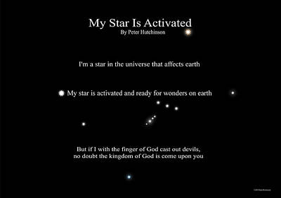 Photograph - My Star Is Activated by Peter Hutchinson
