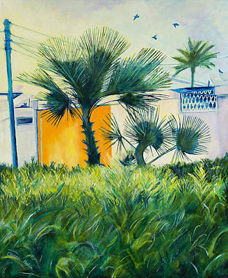 Painting - My Street Orange by Chana Helen Rosenberg