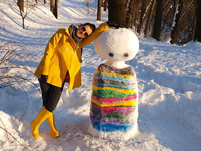 Relief - My Stripesnowman... by Veronica Popoiacu