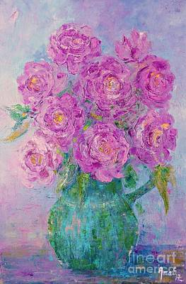 Painting - My Summer Roses by AmaS Art
