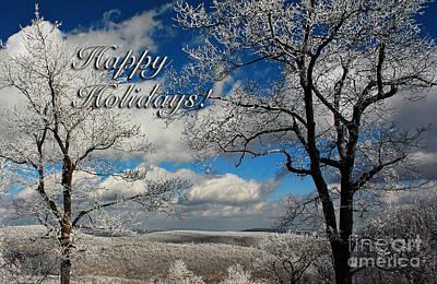 My Sunday Happy Holidays Card Print by Lois Bryan