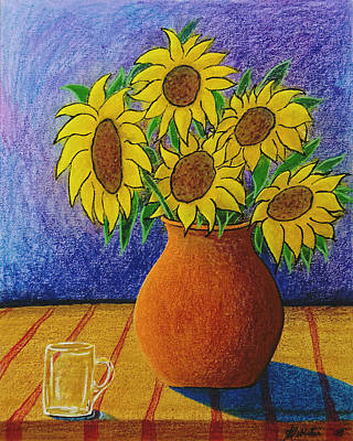 My Sunflowers Original by Arnold  Isbister