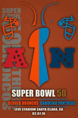 My Super Bowl 50 Broncos Panthers 5 Art Print by Joe Hamilton
