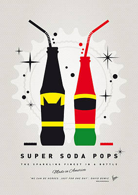 Soda Digital Art - My Super Soda Pops No-01 by Chungkong Art
