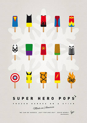 Icecream Digital Art - My Superhero Ice Pop - Univers by Chungkong Art