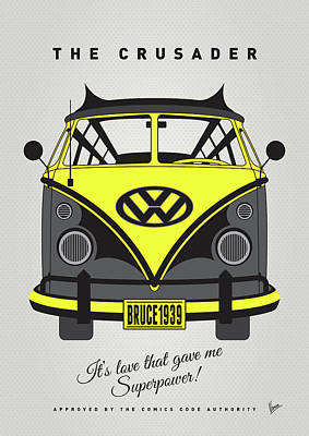 Wonder Woman Digital Art - My Superhero-vw-t1-batman by Chungkong Art